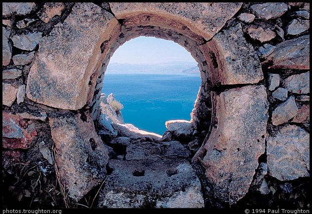 Clifftop fortification - Greece - Ancient photographs