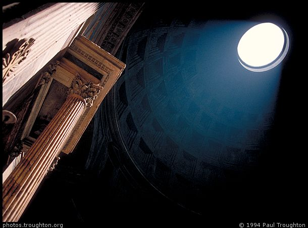Interior of the Pantheon - Rome - Ancient photographs
