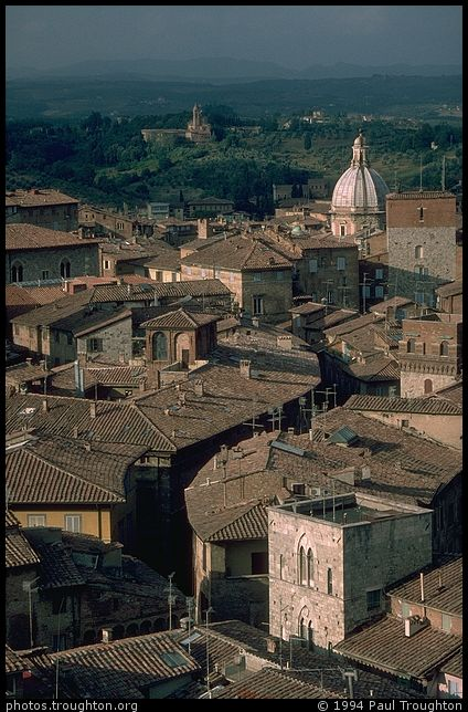 Rooftops - Siena - Ancient photographs