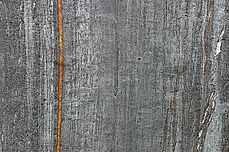 Stripe of iron oxide - Franz Josef glacial valley - New Zealand Christmas 2003