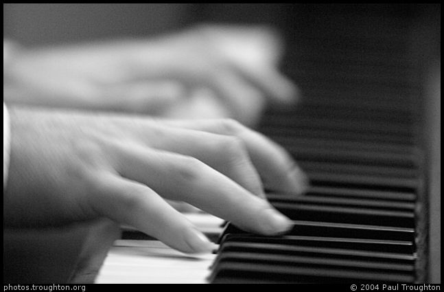 Tim Lapthorn's fingers on the piano - Arnie Somogyi in Clare Cellars