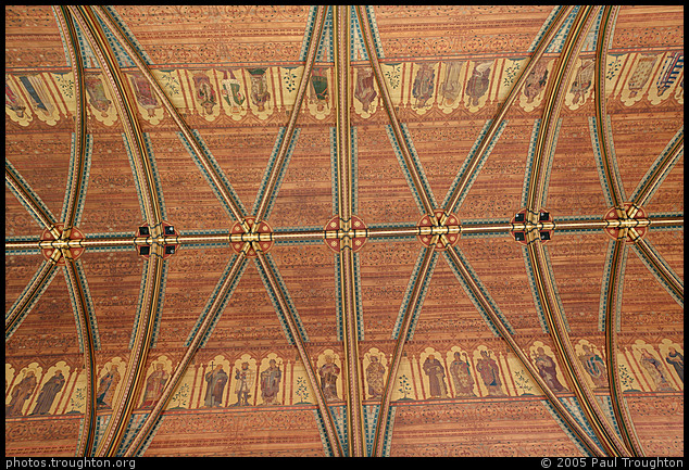 The ceiling of the chapel - St John's College Chapel