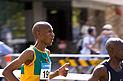 Tseko Mpolokeng, representing South Africa - Lygon St, Melbourne CBD - Melbourne Commonwealth Games 2006 Marathon